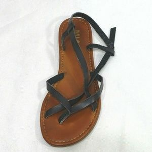 MIA Strappy Flats Sandals Women Size 9 Black